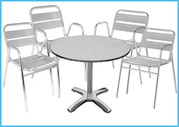stainless steel tables and chairs manufacturers